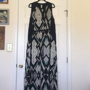 Plus Size Pure Energy Print Maxi Dress